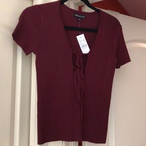 Kendall and Kylie Maroon Top